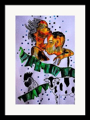 Folktale Mixed Media Framed Prints