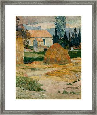 Landscape Near Arles  Framed Print