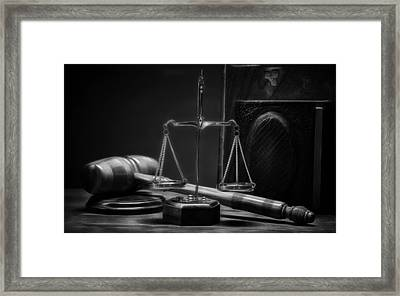 Law Office And Judge Collection Framed Print