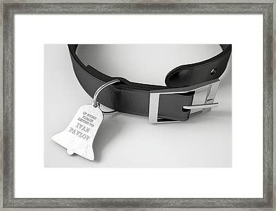 Leather Collar With Tag Framed Print