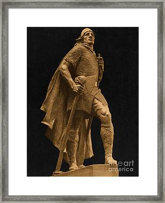 Leif Ericson, Norse Explorer Framed Print by Photo Researchers