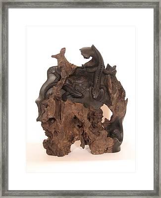 Lizards Framed Print by Thu Nguyen