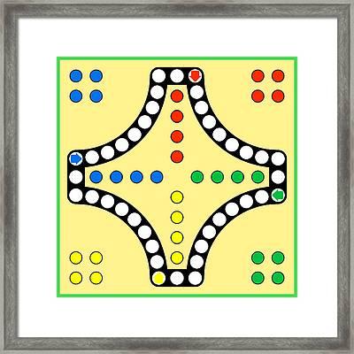 Ludo Board Game Framed Print