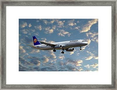 Lufthansa Airbus A321-131 Framed Print