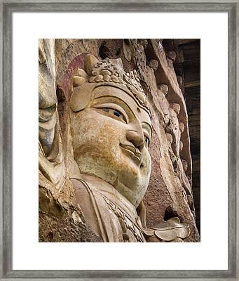 Maijishan Grottoes Tianshui Gansu China Framed Print by Adam Rainoff