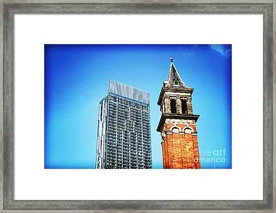 Manchester - Beetham Tower Framed Print by Hristo Hristov