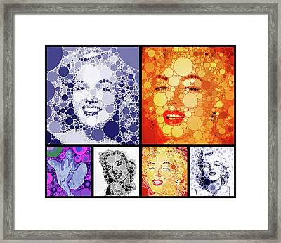 Marilyn Monroe Vintage Hollywood Actress Framed Print by Esoterica Art Agency