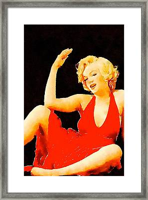 Marilyn Pinup By Frank Falcon Framed Print