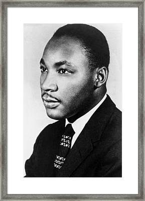 Martin Luther King Jr Framed Print by American School