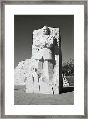 Martin Luther King Memorial Framed Print by Brandon Bourdages