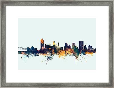 Memphis Tennessee Skyline Framed Print