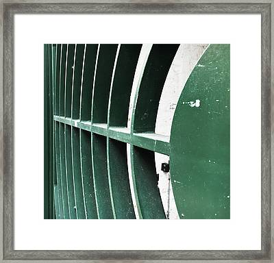 Metal Gate Framed Print by Tom Gowanlock