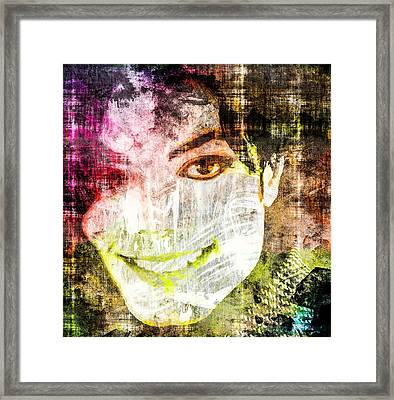 Michael Jackson Framed Print by Svelby Art