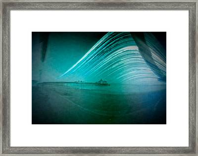 6 Month Exposure Of Eastbourne Pier Framed Print