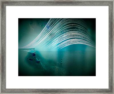 6 Month Exposure Overlooking The Beachy Head Lighthouse Framed Print