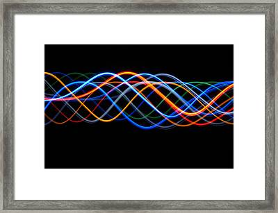Moving Lights, Abstract Image Framed Print by Lawrence Lawry