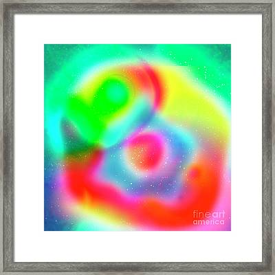 Multicoloured Abstract Pattern  Framed Print