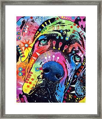 Neo Mastiff Framed Print by Dean Russo