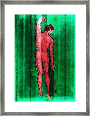 Nude Man Framed Print