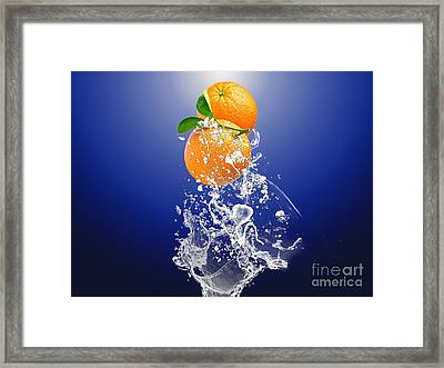 Orange Splash Framed Print by Marvin Blaine