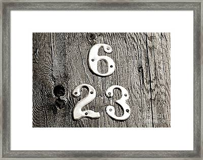 Framed Print featuring the photograph 6 Over 23 by Ethna Gillespie