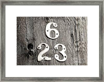 6 Over 23 Framed Print