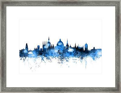 Oxford England Skyline Framed Print by Michael Tompsett