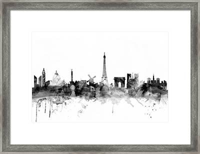Paris France Skyline Framed Print