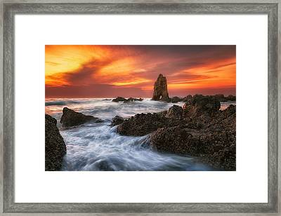 Pattaya Beach Framed Print by Anek Suwannaphoom