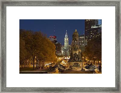 Philadelphia Skyline Framed Print by John Greim