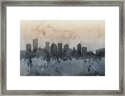 Phoenix Arizona Skyline Framed Print
