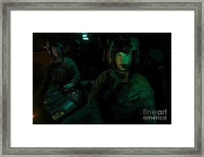 Pilots Sitting In The Cockpit Framed Print