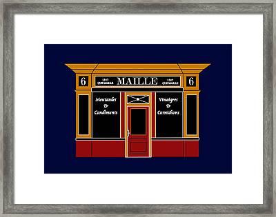 6 Place De La Madeleine A Parisian Shop Framed Print