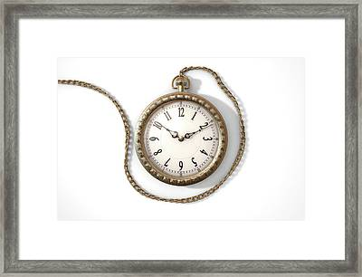 Pocket Watch On Chain Framed Print