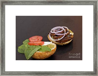 Portobello Mushroom Burger Framed Print