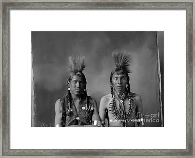 Portrait Of Cree Indian Warrior  Framed Print by MotionAge Designs
