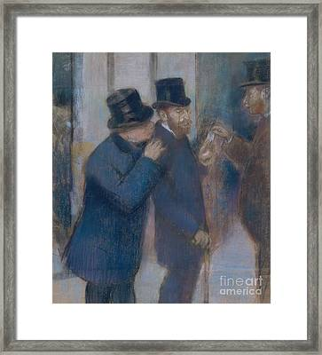 Portraits At The Stock Exchange Framed Print
