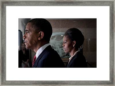 President And Michelle Obama Framed Print by Everett