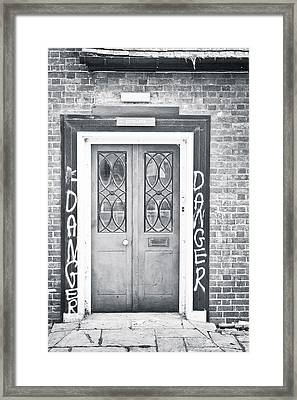 Red Door Framed Print by Tom Gowanlock