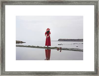 Red High Heels Framed Print