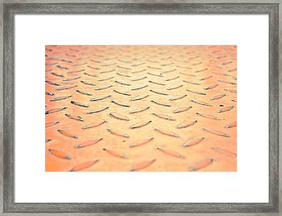 Red Metal Framed Print