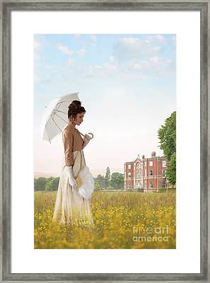 Regency Woman Framed Print