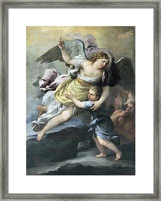Rendition Of A Guardian Angel Framed Print