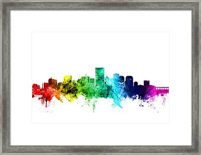 Richmond Virginia Skyline Framed Print by Michael Tompsett