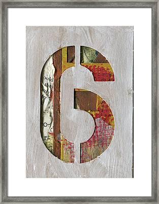 Number 6 Framed Print