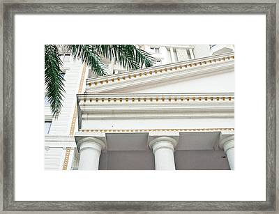 Roman Architecture Framed Print by Tom Gowanlock