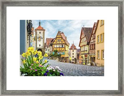 Rothenburg Ob Der Tauber Framed Print by JR Photography