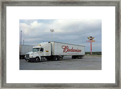 Route 66 - Dixie Truckers Home Framed Print by Frank Romeo
