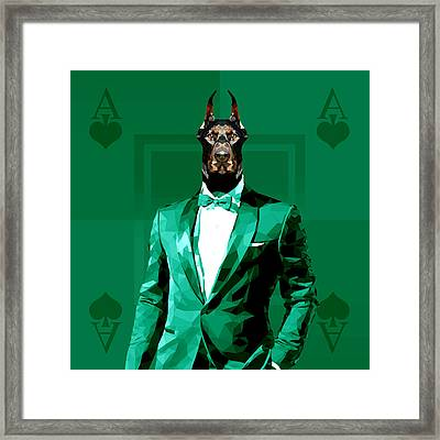 Royal Doberman Framed Print by Gallini Design