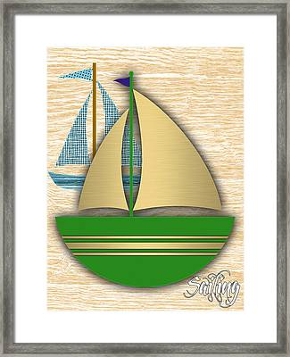 Sailing Collection Framed Print